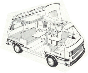 westfalia t25 t3 joker beige interior. Black Bedroom Furniture Sets. Home Design Ideas